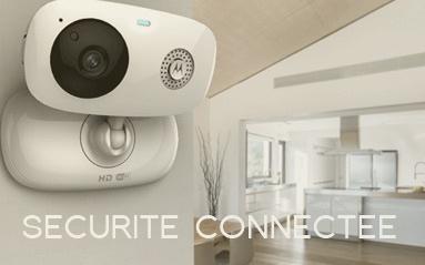Camera de securite connectee. Surveillance a distance depuis votre smartphone