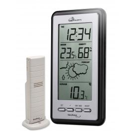 Station météo Smart Home, alertes mobile, argenté/gris, 8,2 x 2,3 x 15 cm,MA10430 Technoline