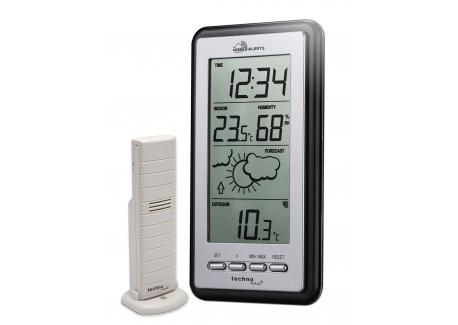 Technoline Station météo Smart Home, alertes mobile, argenté/gris, 8,2 x 2,3 x 15 cm, MA10430