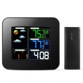 Kidsidol Station Météo Multifonctionnel, Intérieure et Extérieure sans Fil Connectée, Température et Hygromètre Thermomètre,