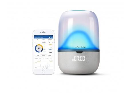 Terraillon 14060 Lampe / Réveil connecté analyse du sommeil et aide à l'endormissement lampe intelligente + dot