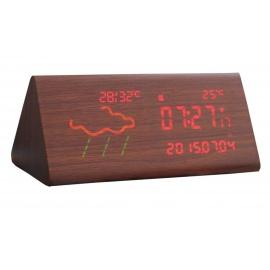 Réveil Météo Intelligent Horloge Météo De Chevet Lumineux WIFI Mode Silencieux Led Réveil,Triangle