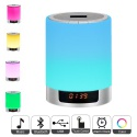 Lumières de nuit Bluetooth haut-parleur, lampe de chevet Touch Control réveil couleur LED couleur changeant de haut-parleur s