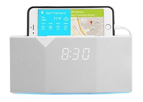BEDDI de WITTI Design - Radio-réveil intelligent, intégrable à votre maison connectée - Blanc