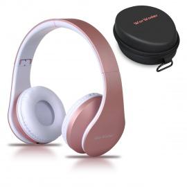 Casque Bluetooth Sans fil, Wireless Headphones Stéréo On Ear Pliable Casque 4 en 1 avec Micro Support FM Radio TF SD pour Tél