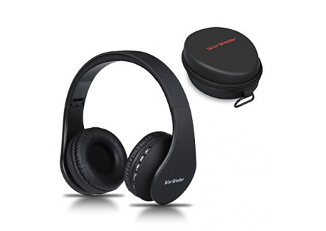 Casque Bluetooth Sans fil, Wireless Headphones Stéréo On Ear Pliable Casque 4 en 1 avec Micro Support FM Radio TF SD pour Tél