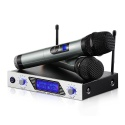 Microphone sans Fil Karaoké Micro sans Fil Professionnel Aluminium Alimenté par 2 AA Piles  Exclu  2 Micro HF à Main Portable