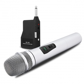 NASUM Microphone Professionnel Portable sans fil Rechargeable PC-K3 avec récepteur de 6,35 mm Conception multi-canaux pour Ka