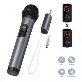 ELEGIANT Microphone Bluetooth, Micro Professionnel sans Fil Intégré FM Portables et Récepteur UHF Amplificateur pour Réunion,
