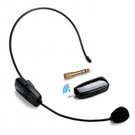 Jelly Comb UHF Microphone sans Fil Haut-Parleur 2-en-1 pour Guide Tourisme Enseignement Conférence-Noir