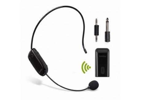 UHF micro sans fil Casque découte portable avec transmetteur sans fil stable pour amplificateur de voix, PC, haut-parleur, c