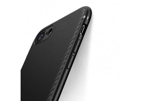 Coque iphone 7, Coque iphone 8, J Jecent [ Texture Fibre de Carbone ] Silicone TPU Souple Bumper Case Cover de Protection Non