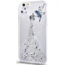 Coque iPhone 7,Coque iPhone 8,Surakey Glitter Paillette TPU Silicone Étui Housse Téléphone Couverture Brillant Cristal strass