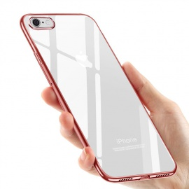 Coque iPhone 8 Silicone, Coque iPhone 7, Souple Housse iPhone 8 / iPhone 7 TPU Bumper Case Silicone Gel Shock-Absorp