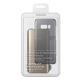 Samsung Pack pour Galaxy S8 avec Coque Transparente + Batterie Externe 5.2A Charge Rapide + Film de Protection