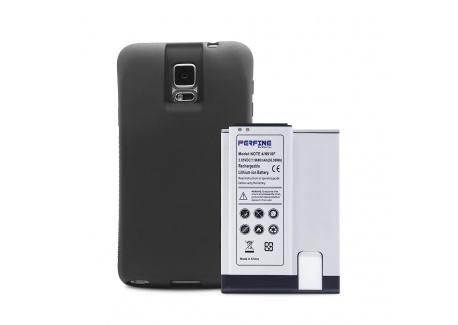 Perfine Batterie 9600mAh+TPU Coque pour Samsung Galaxy Note 4,N910H/N910F Batterie Haute Capacité Rechargeable de Remplacemen