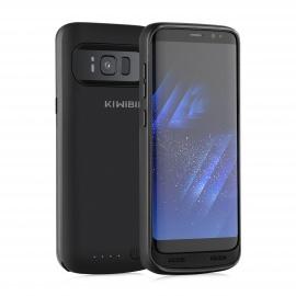 KiWiBiRD 4500mAh Rechargeable Coque de Batterie pour Samsung Galaxy S8 avec 120%+ de Batterie  Pas pour S8+ Plus  – Noir Mat