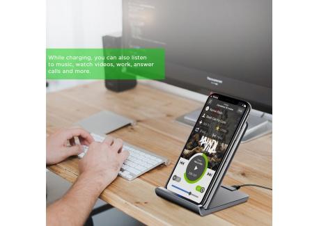 LEMEGO Chargeur sans Fil Qi Pliable Chargeur à Induction Rapide Station de Charge Portable pour Galaxy S8 / S8 Plus / S9 / S9
