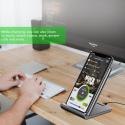Chargeur sans Fil à Induction Rapide Station de Charge Portable pour Galaxy S8 / S8 Plus / S9 / S9