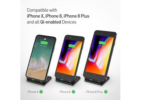 [Qi Chargeur Sans Fil Rapide] Seneo Wireless Quick Charge 2.0, Chargeur à Induction pour Samsung Galaxy Note 8/ S8/ S8 plus/