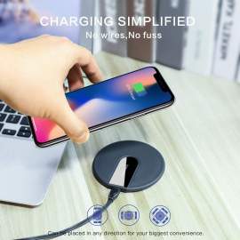 Chargeur sans Fil 10W Universel Rapide Wireless Charger Pad, Chargeur à Induction Compatible avec iPhone XS/XS Max/XR/X