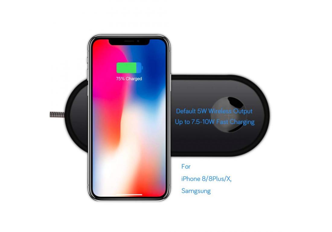 chargeur sans fil pour iphone 8 8 plus x et apple watch chargeur induction rapide pour