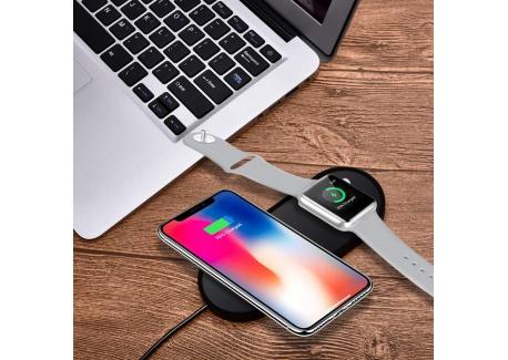 Sararoom Chargeur sans Fil pour iPhone 8/8 Plus/X et Apple Watch, Chargeur à Induction Rapide pour Samsung Galaxy Note et Aut