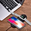 Chargeur sans Fil pour iPhone 8/8 Plus/X et Apple Watch, Chargeur à Induction Rapide pour Samsung Galaxy Note et Aut
