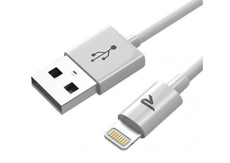 Rampow RAMPOW01 [MFI certifié Apple] Câble Lightning vers USB avec Connecteur Ultra Résistant en Aluminium - Chargeur iPhone