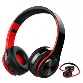 Casque Bluetooth Sans Fil, Macrourt Casque Audio Pliable Fonction 4-en-1, Micro Intégrée Bluetooth, Radio, Carte de Mémoire,