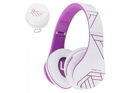 PowerLocus Casque Bluetooth sans Fil, Casque Audio stéréo Pliable sans Fil et Filaire avec Micro intégré, Micro SD/TF, FM pou
