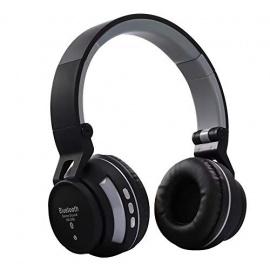 Qoosea Casque Bluetooth sans Fil Casque Audio stéréo Pliable sans Fil et Filaire avec Micro intégré Micro SD/TF FM pour iPhon