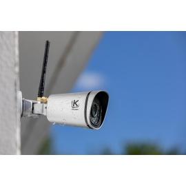 Caméra de Surveillance extérieure Kiwatch, full HD, Wifi, Grand Angle 120°, Vision Infrarouge, Détecteur de Mouvement, Enregi