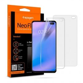 Protection écran Samsung Galaxy S10 Plus, 2 pièces, Couverture maximale, Compatible avec capteur à Ultrason,
