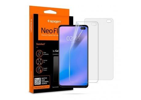 Spigen, 2 Pièces, Protection écran Samsung Galaxy S10 Plus, NeoFlex, Couverture maximale, Compatible avec capteur à Ultrason,