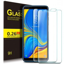 Samsung Galaxy A7 2018 Protection Ecran,Samsung Galaxy A7 2018 Ultra Résistant Film Protection écran Glass [Dureté 9H] S