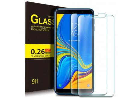 KuGi Samsung Galaxy A7 2018 Protection Ecran,Samsung Galaxy A7 2018 Ultra Résistant Film Protection écran Glass [Dureté 9H] S