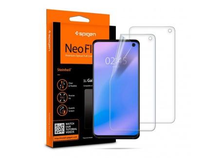 Spigen, 2 Pièces, Protection écran Samsung Galaxy S10, NeoFlex, Compatible avec capteur à Ultrason, Couverture maximale, TPU