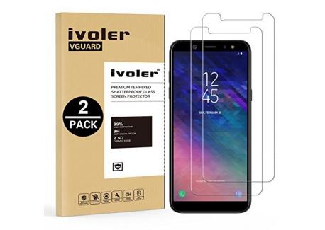 iVoler [Pack de 2] Verre Trempé Compatible avec Samsung Galaxy A6 2018 [Garantie à Vie], Film Protection en Verre trempé écra