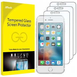 Film de Protection écran pour iPhone 6, iPhone 6s, iPhone 7, iPhone 8 en Verre Trempé, Lot de 3