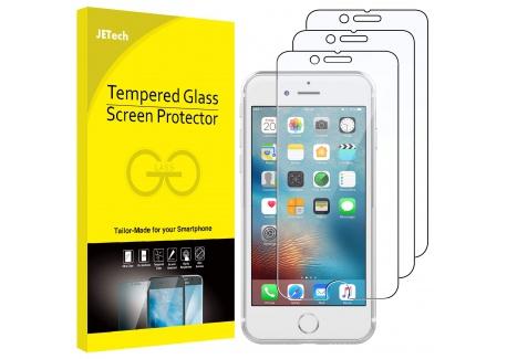JETech Film de Protection décran pour iPhone 6, iPhone 6s, iPhone 7, iPhone 8 en Verre Trempé, Lot de 3