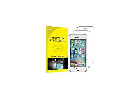 JETech Film de Protection décran pour iPhone SE, iPhone 5s et iPhone 5 en Verre Trempé, Lot de 2