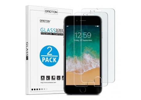 OMOTON iPhone 7 Plus/8 Plus Protection Ecran Verre Trempé [9H, Sans Bulles, Anti-Rayures] Film Protecteur Pour iPhone 7 Plus/