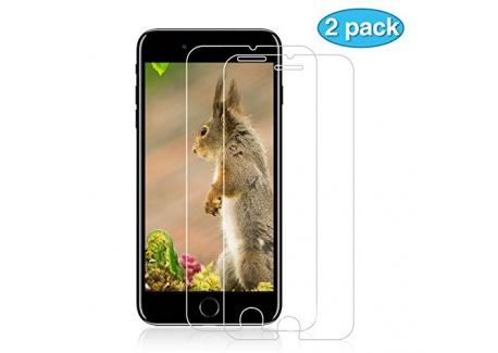 NONZERS Film de Protection pour iPhone 7 / iPhone 8, [3 Pack] 2.5D Protecteur dÉcran en Verre Trempé Transparent, 9H Dureté