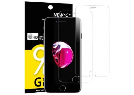 NEWC Verre Trempé pour iPhone 7,iPhone 8,[Pack de 2] Film Protection écran - Anti Rayures - sans Bulles dair -Ultra Résista
