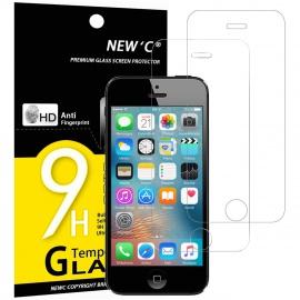 Verre Trempé pour iPhone 5,5S,Se,5C,[Pack de 2] Film Protection écran - Anti Rayures - sans Bulles dair -Ultra Résista