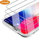 Verre Trempé iPhone XS/X [Lot de 3] [Face ID Complètement Protégé] Film Protection Ecran Vitre HD, Dureté 9H pour iP