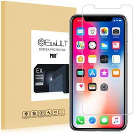 Verre Trempé iPhone X/XS [3-Pièces], iPhone X/iPhone XS/iPhone 10 Film Protection écran Protecteur décran Vitre Tempe