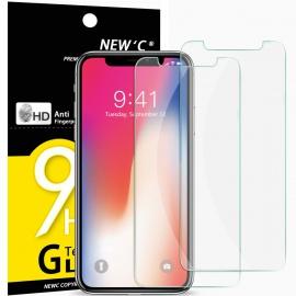 Verre Trempé pour iPhone X, iPhone XS,[Pack de 2] Film Protection écran - Anti Rayures - sans Bulles dair -Ultra Résis