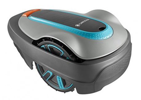 Gardena 4071-60 R40LI Robot Tondeuse Électrique 400m2 avec option Mulching, Roues Motrices, largeur de coupe 17 cm